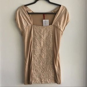 NWT Anthropologie Top with Sequin Detail